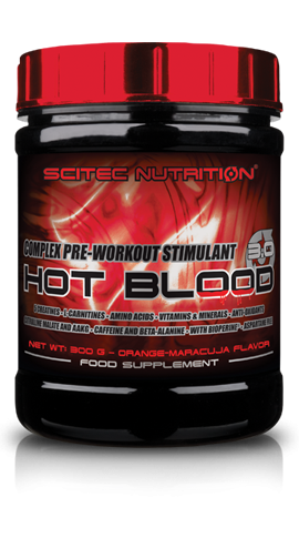 Scitec nutrition HOT BLOOD 3.0 300g tropical punch